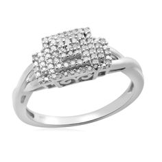 Sterling Silver 1/6ct Round Diamond Eternal Treasures Promise Ring - Size 7 Only