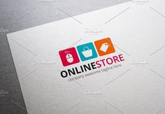 Online Store Logo by XpertgraphicD on @creativemarket