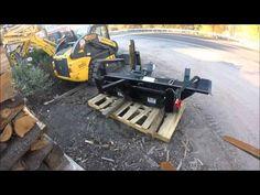NEW Halverson Fire Wood Processor Attachment, Unload Shipment Use Your Head, Firewood, Ship, Youtube, Woodburning, Ships, Youtubers, Youtube Movies