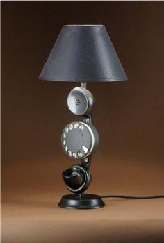 Old phone lampKettledrum Pendant Lamp   let there be light   Pinterest   Pendant  . The Dapper Llama Menlo Park Lamps. Home Design Ideas