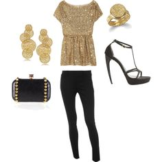 Gold... Perfect for a date night.. If we ever have one again lol