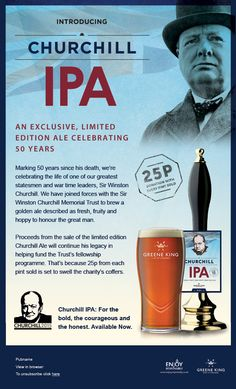 Churchill IPA email - Awareness email introducing a limited edition ale for the Winston Churchill Trust
