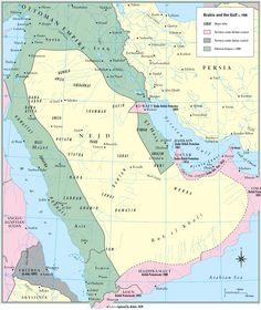 A Arábia e o Golfo em 1900