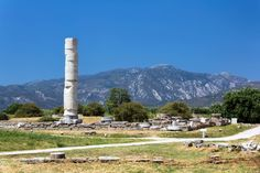 """Visitors in Greece can enjoy inspiring trips into artistic, cultural, historical, and folkloric traditions approaching seventeen magnificent Greek monuments that are included on the """"World Heritage List"""" by UNESCO. Greek Sites, Ancient Greek Theatre, Samos, Ancient Beauty, World Heritage Sites, Dolores Park, Europe, Travel, Visit Greece"""