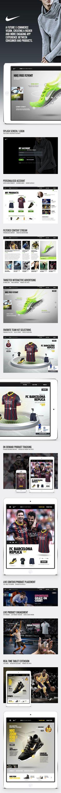 Nike Vision #mobile #nike #ux #ui #digital