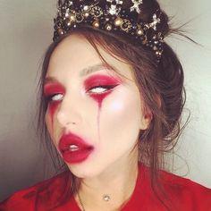 Spooky Devil Makeup Ideas That Trending For Halloween Clown Makeup, Scary Makeup, Costume Makeup, Makeup Art, Makeup Ideas, Sfx Makeup, Beauty Makeup, Maquillaje Halloween 2019, Jenny Schmidt