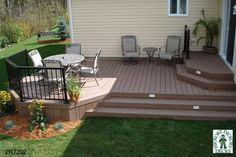 small deck ideas for mobile homes.Just because you have a tiny backyard doesn't suggest you can't have a stylish deck. Small Deck Designs, Backyard Patio Designs, Backyard Landscaping, Small Decks, Backyard Seating, Backyard Bbq, Small Deck Ideas On A Budget, 2 Level Deck Ideas, Two Level Deck