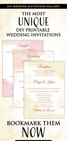 This Modern DIY Simple Pastel Wedding invite template download is perfect for you if you are looking for classy printable insert card template and easy-to-customize editable template downloads for your Floral Wedding Invitation!This Rustic Wedding invitation card includes a custom digital invite card each for any 3 of your functions for your Modern Indian Wedding, be it a Sangeet, Wedding or Reception! Diy Wedding Stationery, Indian Wedding Invitations, Rustic Invitations, Printable Wedding Invitations, Digital Invitations, Floral Wedding Invitations, Wedding Advice, Rustic Wedding, Reception