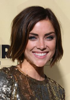 Short Hairstyles Lookbook: Jessica Stroup wearing B.o.B (6 of 13). Here Jessica wears a short, straight bob hairstyle.