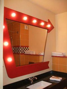 car themed bathrooms | Disney's Hotel Santa Fe: New cars themed bathroom