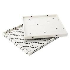 Decor/Accessories - Nate Berkus Marble Print Decorative Tray 12x12 I Target - marble print tray, square marble print tray, black and white t...