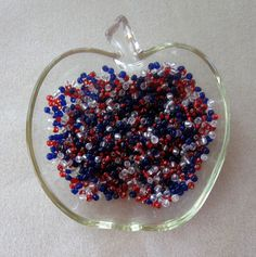 Glass Seed Beads, 6/0, Red White Blue, Jewelry Design, Craft Supply, 'Americana', Bead Embroidery, Bead Weaving, Jewelry Making Beads,  4mm by CatsBeadKitsandMore on Etsy