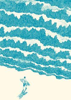 "aquaticwonder:  ""To The Sea"" byHeng Swee Lim"