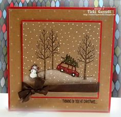 Vicki G Stamps: Getting a head start on Christmas with a Krafty WInter Scene
