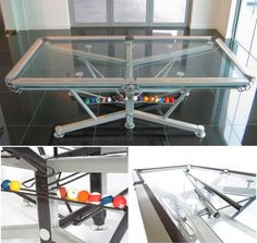 Cool transparent glass pool-table -  Nottage design