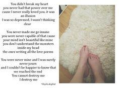 You didn't break my heart