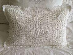 Handmade  Crochet Pillow Cover by Coastalhouse on Etsy