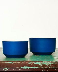 Cobalt porcelain nesting cups, etsy