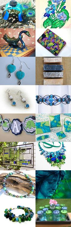 Burst of Color Shopping  by Marilyn Gilmore on Etsy--Pinned with TreasuryPin.com #bluegreengiftguide