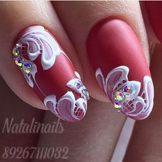 Nails by Nataly nails Fingernail Designs, Gel Nail Art, Acrylic Nails, Gel Designs, Cool Nail Designs, Garra, Nail Accessories, Wedding Accessories, Glamour Nails