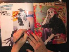 giving up on worry- a collage journal pge