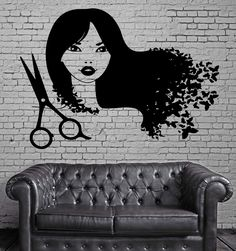Hair Beauty Salon Barbershop Decor Wall Stickers Vinyl Decal (z2266)