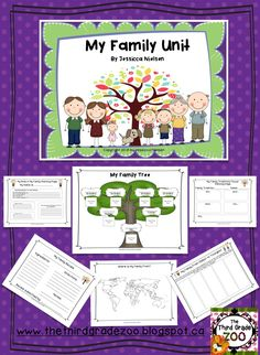 $This family unit includes 10 fun and interactive activities designed to help students learn more about their own family. This unit also allows students oppertunities to share, and to learn about other family traditions and cultures from their classmates.