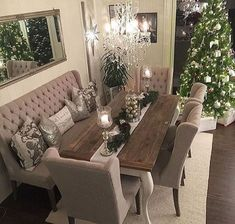 dining room 760826930779834838 - awesome 49 Stylish Dining Room Design Ideas Source by roundecorcom Dining Room Table Decor, Dining Room Design, Dining Room Furniture, Living Room Decor, Dinning Room Ideas, Dining Rooms, Decor Room, Dining Room With Bench, Furniture Stores