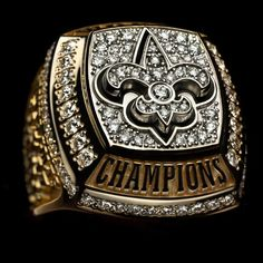 New Orleans Saints - Super Bowl XLIV super-bowl-rings Best Football Team, National Football League, Football Season, Nfl Football, American Football, Nfl Superbowl, Football Stuff, Alabama Football, Football Helmets