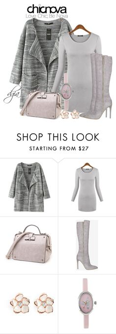 """""""Chicnova outwear"""" by dgia ❤ liked on Polyvore featuring Chicnova Fashion, French Connection, Shaun Leane and Vivienne Westwood"""