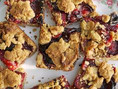 Separate Toasters: Gluten Free Damson Crumble Bars