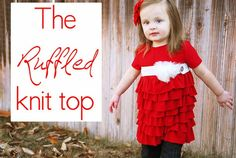 The Ruffled Knit Top Tutorial