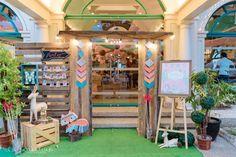 Mallory's Bohemian Woodland Themed Party – Entrance setup
