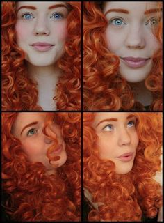 Merida From Brave Transformation Via Beautylish. Merida Cosplay, Disney Cosplay, Cosplay Makeup, Cosplay Costumes, Princess Merida, Character Aesthetic, Dream Hair, Halloween Make Up, Freckles