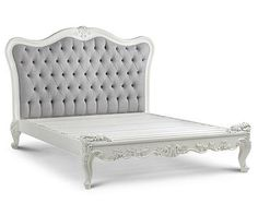 Fabulous & French Provincial Country Style White Bed Farmhouse, Cottage Chic Queen Size