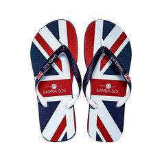 978e7cd3b Samba Sol Men's Countries Collection Flip Flops - England