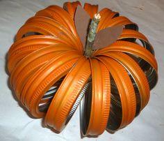 Mason jar band pumpkin