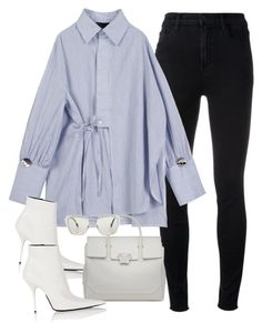 """""""Sin título #2944"""" by camilae97 ❤ liked on Polyvore featuring J Brand, Balenciaga, Versace and Miu Miu"""