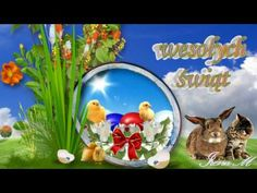 🐇🐤💚Wielkanocne życzenia💚🐇🐤 - YouTube Christmas Balls, Christmas Fun, Christmas Ornaments, Best Christmas Quotes, Light Blue Roses, Santa Claus Hat, Easter Pictures, Advent Wreath, Burning Candle