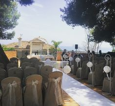 Wedding Ceremony set up at Estrella Del Mar Marbella