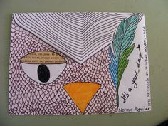 Not necessarily the owl, but the idea of filling in everything except where the address goes