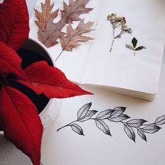 337 отметок «Нравится», 2 комментариев — Martha Bocharova (@martha_bocharova) в Instagram: «#tattoo#scetch#nature#inspiration#leaves#blacktattoo#dotwork#linework#marthabocharova ескіз…»