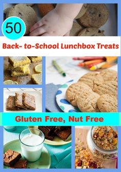 50 Gluten-Free Nut-Free Back-to-School Lunchbox Treats from All Gluten-Free Desserts! #glutenfree #nutfree