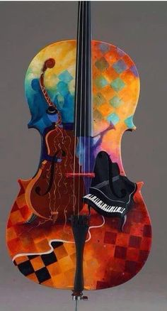 A grand, painted musical instruments Violin Art, Guitar Painting, Wow Art, Paperclay, Oeuvre D'art, Bunt, Art Photography, Artsy, Hand Painted