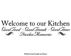 Vinyl Decal for Wall Wood or Canvas  Welcome to by WickedGoodDecor, $10.99