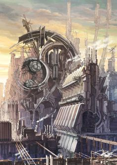 Steampunk structure by K,Kanehira.  #Design #Concept #Architecture  Factory Sector