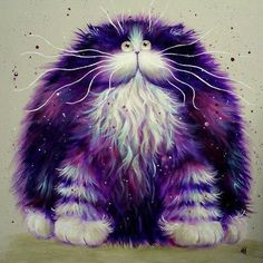 kim haskins art | purple kitty | Animals - Cutie Patooties | Pinterest