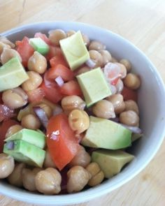 Avocado Chickpea Salad.. bring this healthy side dish to your next BBQ