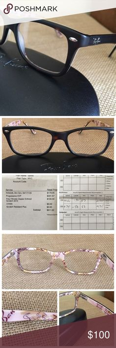 Ray Ban Eye glasses tortoise prescription NEW Never used.  Varilux progressive lenses with 1.75 RX added for reading.  Add your own RX to these brand new frames that have never been used!  The frame was too dark on my pale face. Ray-Ban Accessories Glasses