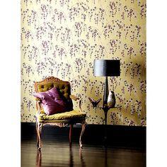 Harlequin Wallpaper, Iola 75639, Lime / Purple Online at johnlewis.com www.kiwiburstinteriors.co.uk